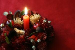 クリスマスキャンドルディスプレイ